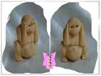 Sherbin woodbines eco-friendly - toy - birthday gift - decoration monkey zodiac - 55 2.8 3.5 5.6cm
