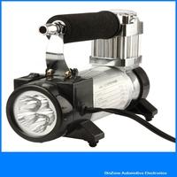 YD 3036 Portable Super Flow 12 Volt 140PSI Car Air Compressor Metal Pump with  High Brightness LED Lamp