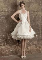 New Sweet Designer Halter Spaghetti Strap Beading Customize Keen-length Short Bridal Destination Wedding Dress Wedding Gown