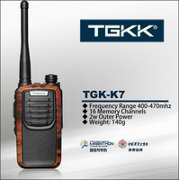 UHF small walky talky TGK-K7 handheld two way radio