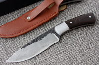 New Handmade Damascus Forged Steel Hunting Ebony Handle Knife D82D82