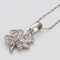 2014 new  crystal  plating white gold with  necklace gold