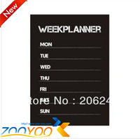 Free Shipping 2013 New Design Week Planner Blackboard Removable Vinyl Wall Sticker Chalkboard Decal Nursey Kid Needing