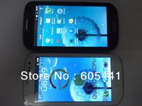 HOT i9300 S3 4.7 inch 1:1 android 4.1 MTK6515 1GHz Smart Phone Micro SIM Single Card Cameras 9300 android phone (Free shipping )