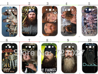 2013 hot !!  wholesale duck dynasty hard white case cover for samsung s3 i9300 10pcs/lots + free shipping