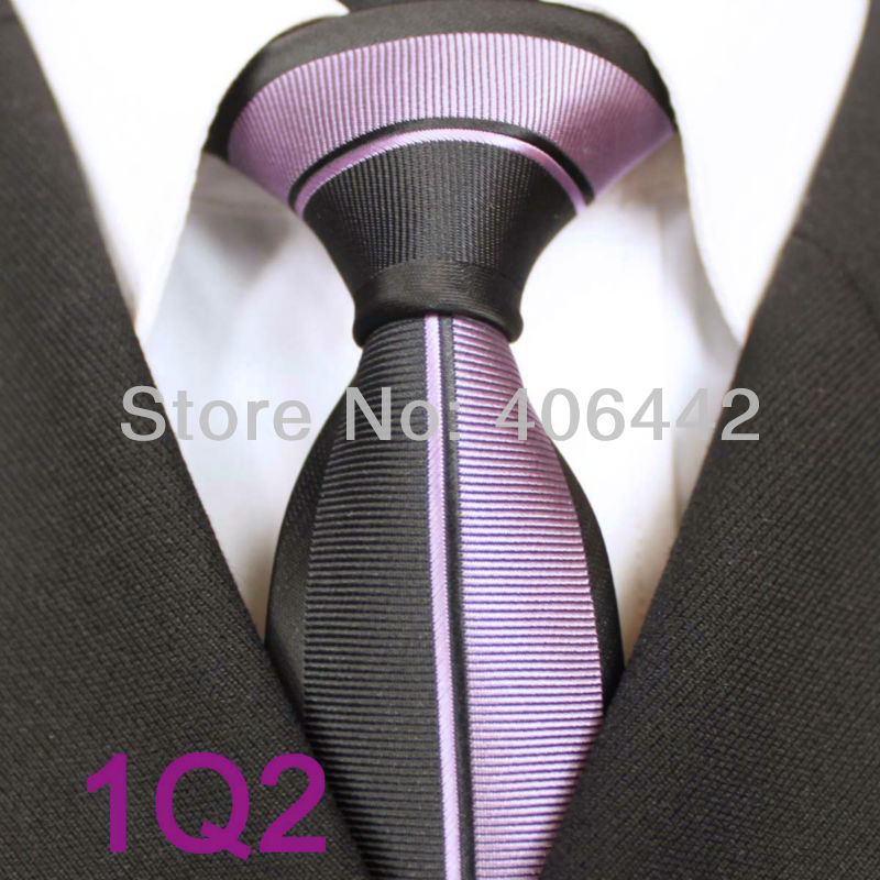 Purple And Black Border Design Yibei Coachella Ties Men 39 s Skinny Tie New Design Black Border Black Purple