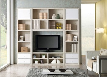 Bookcase bookshelf tv cabinet combination thickening 2.5 tv wall cabinet brief display cabinet closet