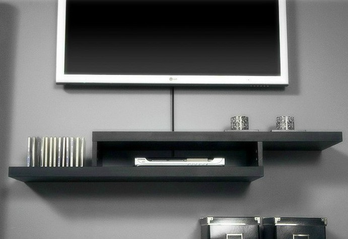 Shelf Under Wall Mounted TV