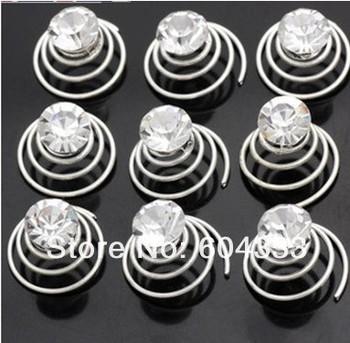120Pcs Single Wedding  Crystal Hair Twists Spins Pins Hair Pins Bridal Wedding Jewelry  Baby Jewelry Hair Clip