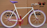 Free Shipping Fixed Gear Bike Single Speed Wthout Freewheel White Purpose Purple  New Arrival