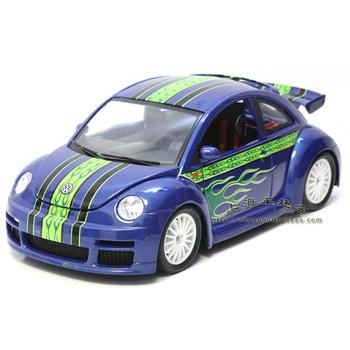 Vw beetle alloy model blue