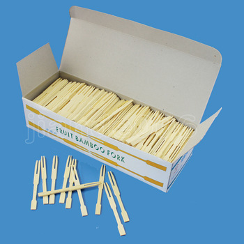 Disposable fruit fork bamboo fruit fork bamboo fruit fork 1000