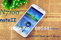 Original Note2 phone MTK6577 Dual core 1.4GHz 1GRAM 4GROM Android 4.1 N7100phone 5.5inch QHD Capacitive screen