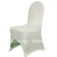 100 Pieces of Free Shipping White Color Spandex Lycra chair cover for Wedding