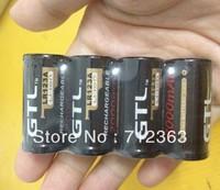 Free EMS,100PCS  BLACK GTL 16340 CR123A LR123A 2000 mAh 3.6V Rechargeable Li-ion Battery Free Hongkong Post