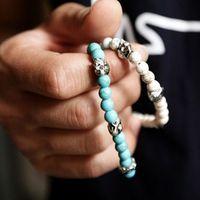 Male bracelet skull bead bracelet male fashion bracelet male for boys