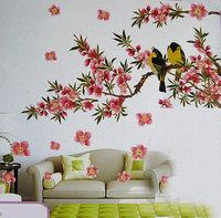 Peach blossom three-dimensional wall stickers tv background wall three-dimensional wall stickers eco-friendly decorative
