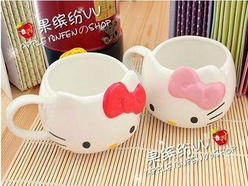 2013 new coming Fashion Hello Kitty Ceramic Coffee Mug Cup Lovely Color cute hellokitty
