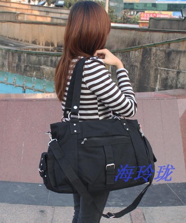 2014 women's handbag canvas bag fashion all-match women's fitness big bag shoulder bag messenger bag(China (Mainland))