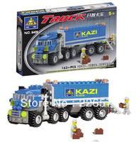 Christmas gift Enlighten Child 6409 educational toys Dumper Truck KAZI DIY toys building block sets,children toys