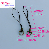 Wholesale Bronze Simple Mobile/Mobilephone/Cellphone Straps/Strings/Key Chains W/Ring Charms Cords DIY Accessories/Findings/JY1