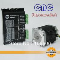 Wholesale 3 set/lot , 6&4 lead,76mm 23HS8630  57 stepper motor + cnc driver DM542 24V-50V/4A