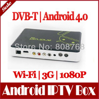 DVB-T Android 4.0 Smart TV Box IPTV WiFi Internet HD 1080P HDMI Player ARM Cortex A9 1GB DVBT Digital TV Receicer