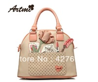 Artmi 2013 summer new arrival women's sweet handbag  with flower and polka dot, free shipping