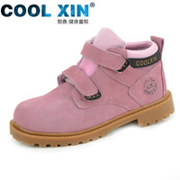 free shipping Cool xin 2013 genuine leather child martin boots hiking boots spring sports shoes sport shoes male shoes girls