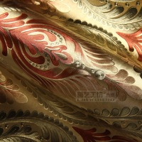 2013 European Golden Phoenix luxury hotel rooms KTV foil wallpaper TV backdrop wallpaper