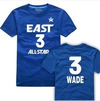 2013 sports basketball East all star #3 wade jersey tshirt,The Flash o-neck short t-shirt, Free Shipping