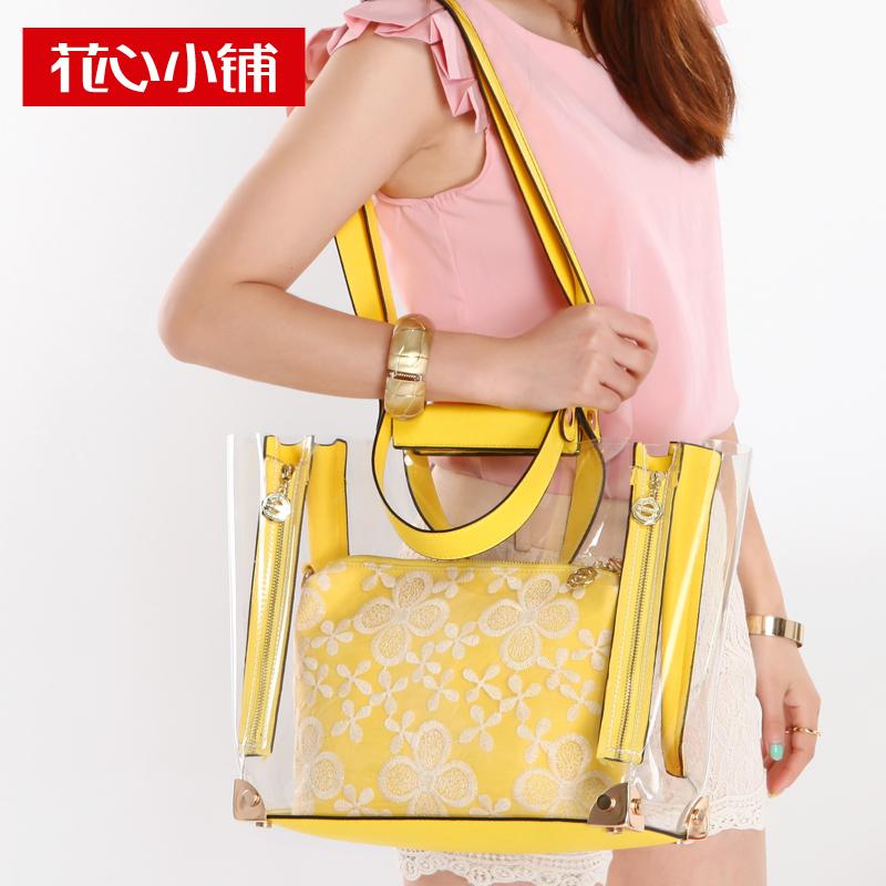 Nikoo 2013 summer candy transparent handbag one shoulder cross-body jelly women's handbag bag - 10332(China (Mainland))