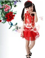Child costume female child dance dress infant primary school students performance wear tang suit dance skirt