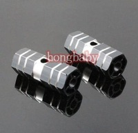 "1pair Cycling BMX Bike Bicycle Cylinder Aluminum Alloy 3/8"" Axle Foot Pegs Black"