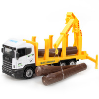 Car model alloy car model transport vehicle inertia car toy crane