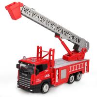 Car model alloy fire engine ladder truck rescue vehicle alloy car model ladder