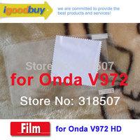 New 2014 3pcs 100% original brand Onda V972 237*182mm A31 tablet screen Protector 9.7 IPS protective film for tablets