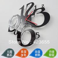 Large digital movement fashion acrylic modern living room wall clock mute table