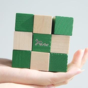 Xcar puzzle magic cube pvc - paper label hand ring