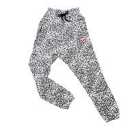 Sakun magicaf large leopard print 100% cotton fleece lovers casual pants harem pants