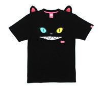 Sakun blue embroidered applique 100% lovers cotton short-sleeve t-shirt cat zipper belt