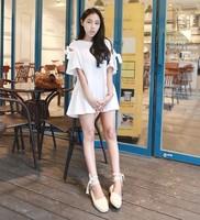 Sty nda cutout bandage bow 687 one-piece dress