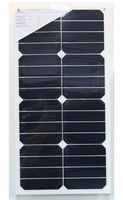 18W high efficiency semi-flexible solar panel,Back contact Sunpower cell MONO solar panel