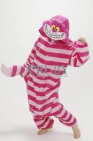 New Adult Unisex Fashion Pajamas Cosplay Onesies Japan Anime Costumes Cute Cheshire Cat Cartoon Animal Pyjamas For Women