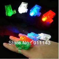 Free shipping Multi-Color LED Party Light Finger Laser Beam Torch finger with 100pcs/lot