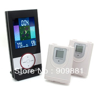 Brand New LCD backlit Wireless RF 434MHz Weather Station Thermometer Hygrometer In/ Outdoor Temperature Humidity Freeshipping