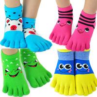 Free shipping 6 paris/lot unisex children/child thumb cotton five-finger toe socks for kids