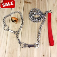 Home traction belt chains collar set wellsore chain dog rope large dog metal pet products