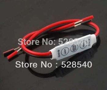 Free Shipping 10PCS Single Color led Mini Dimmer 12V 144W for 3528 5050 Led Strip 3 Keys Light Controller LC201