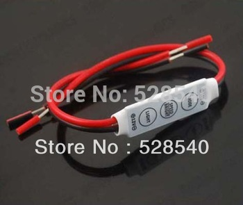 12V Single Color led Mini Dimmer 100W for 3528 5050 Led Strip 3 Keys Light Controller Free Shipping